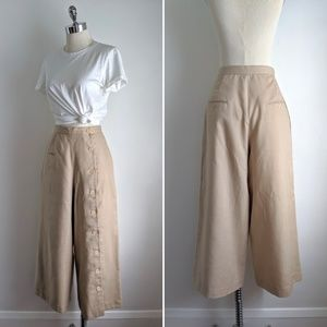 vintage ultra wide leg cropped sailor button pants
